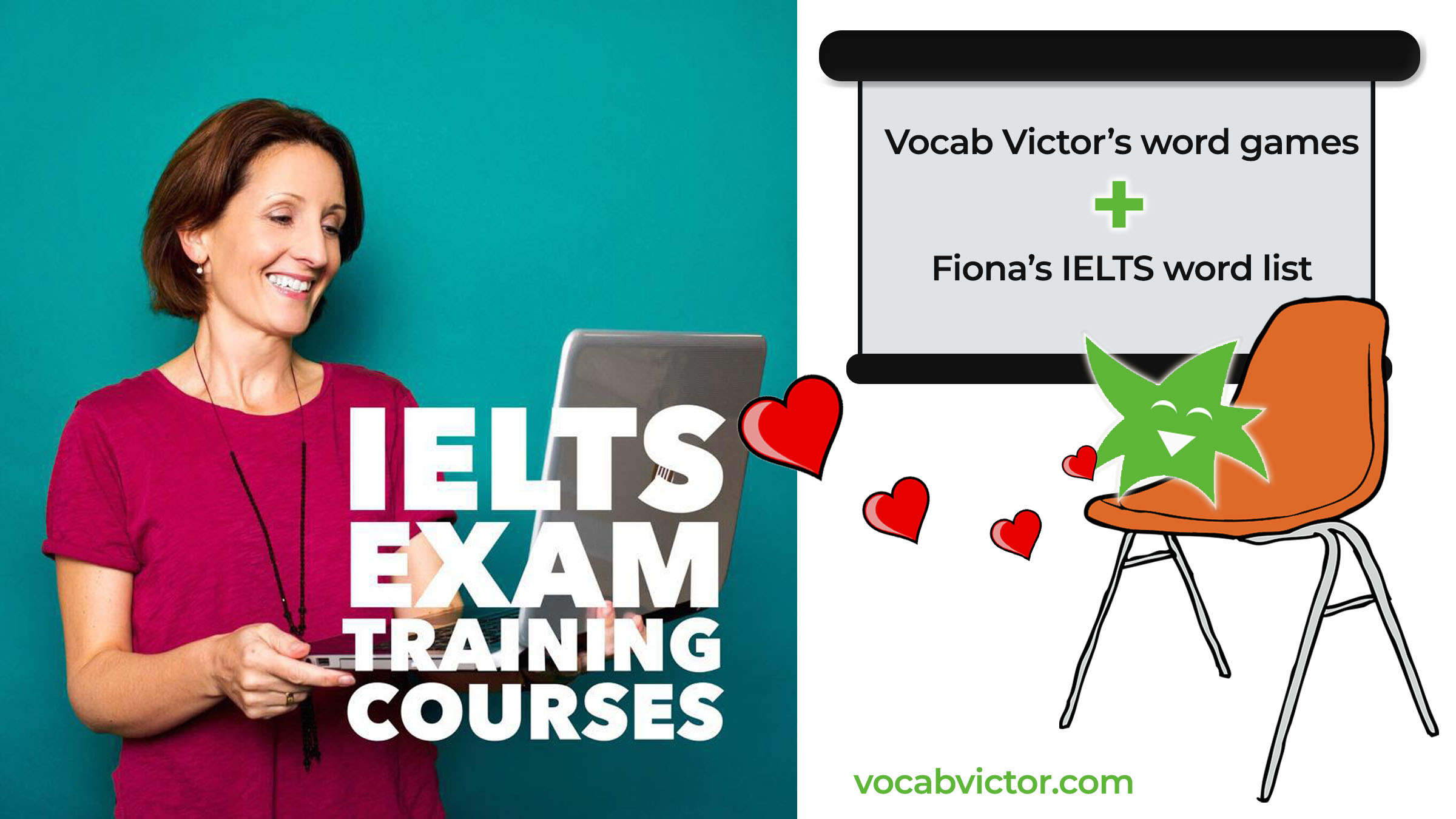 Vocab Victor teams with IELTS with Fiona